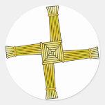 St. Brigid's Cross Classic Round Sticker
