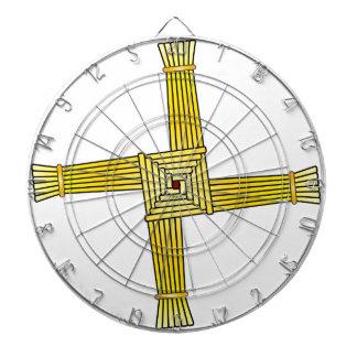 St. Brigid's Cross Dartboard With Darts
