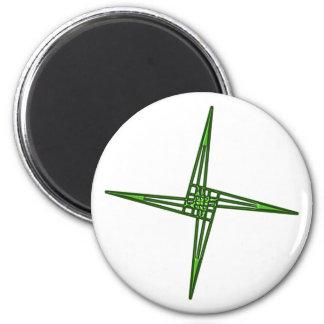 St. Brigids cruz cross Irlanda país de irlandés Ei Imán Redondo 5 Cm
