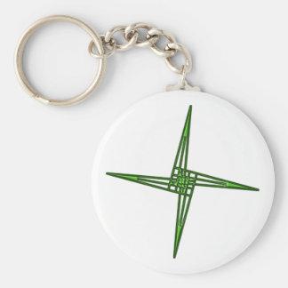 St. Brigids cruz cross Irlanda país de irlandés Ei Llavero Redondo Tipo Pin