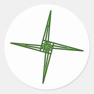 St. Brigids cruz cross Irlanda país de irlandés Ei Pegatina Redonda