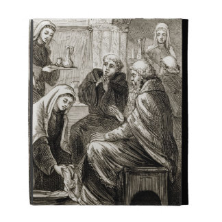 St. Brigit que entretiene a un obispo, 'del Trias