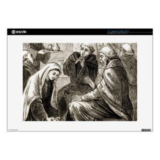 St. Brigit que entretiene a un obispo, 'del Trias Calcomanía Para 38,1cm Portátil