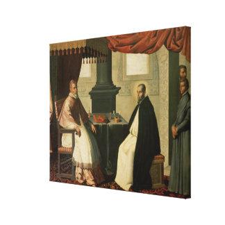 St. Bruno  and Pope Urban II  1630-35 Canvas Print