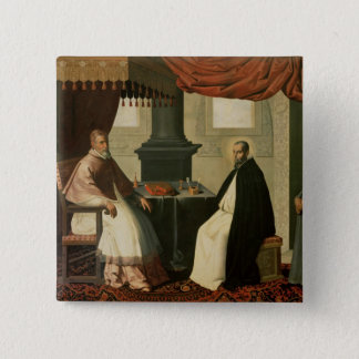 St. Bruno  and Pope Urban II  1630-35 Pinback Button