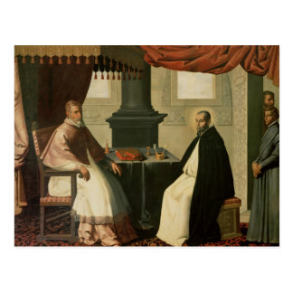 St. Bruno  and Pope Urban II  1630-35 Postcard