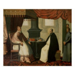 St. Bruno  and Pope Urban II  1630-35 Poster