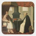 St. Bruno  and Pope Urban II  1630-35 Square Sticker