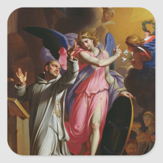 St. Bruno at Prayer, 1671 Square Sticker
