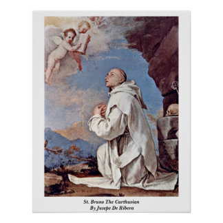St. Bruno el cartujo de Jusepe De Ribera Posters