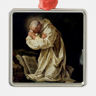 St. Bruno  Praying in the Desert, 1763 Metal Ornament