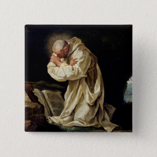 St. Bruno  Praying in the Desert, 1763 Pinback Button