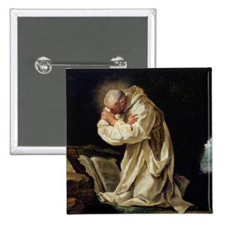 St. Bruno  Praying in the Desert, 1763 Pinback Button