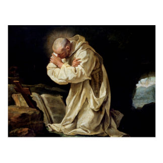 St. Bruno  Praying in the Desert, 1763 Postcard