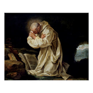 St. Bruno  Praying in the Desert, 1763 Poster