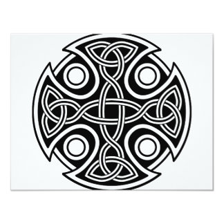 St. Brynach's Cross black and white Card