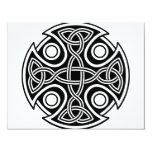 St. Brynach's Cross black and white Personalized Invitation