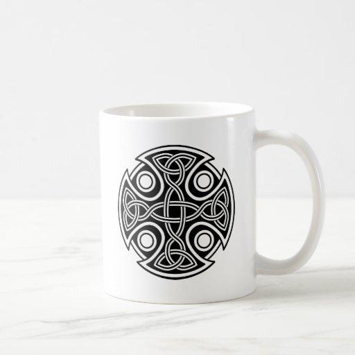 St. Brynach's Cross black and white Mug