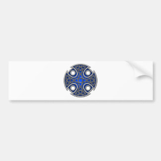 St. Brynach's Cross blue and grey Bumper Stickers