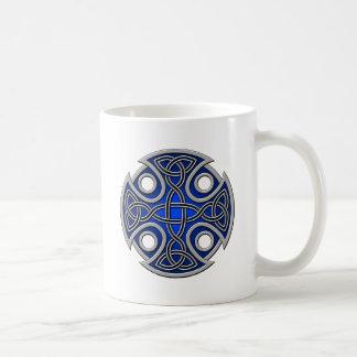 St. Brynach's Cross blue and grey Mugs