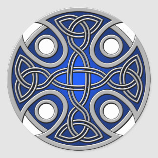 St. Brynach's Cross blue and grey Stickers
