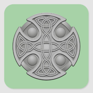 St. Brynach's Cross Classic Square Stickers