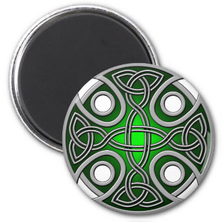 St. Brynach's Cross green and grey 2 Inch Round Magnet