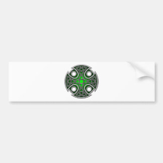St. Brynach's Cross green and grey Bumper Sticker
