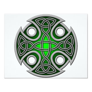 St. Brynach's Cross green and grey Card