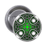 St. Brynach's Cross green and grey Pinback Button