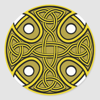 St. Brynach's Cross in Gold Stickers