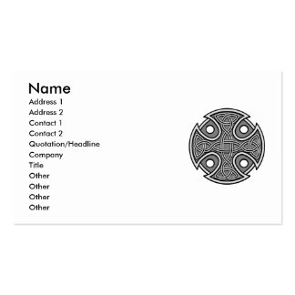 St. Brynach's Cross in Grey Double-Sided Standard Business Cards (Pack Of 100)