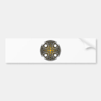 St. Brynach's Cross orange and grey Bumper Sticker