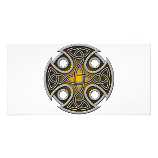 St. Brynach's Cross orange and grey Card