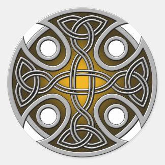 St. Brynach's Cross orange and grey Stickers
