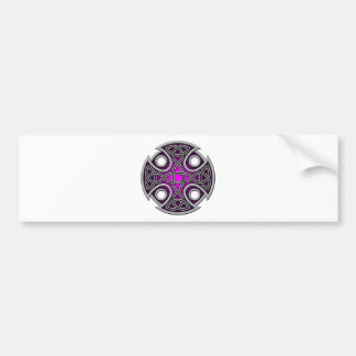 St. Brynach's Cross purple and grey Bumper Stickers