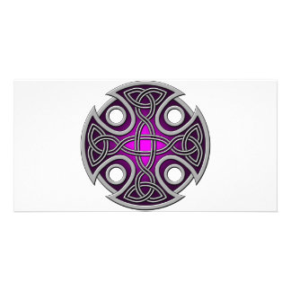 St. Brynach's Cross purple and grey Card