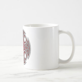 St. Brynach's Cross red and grey Coffee Mugs