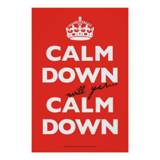 st-calm-down-poster poster