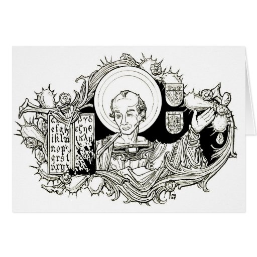 St.Cassian of Imola Notecard Greeting Cards