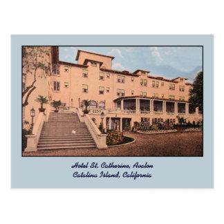 St. Catherine Avalon del hotel del vintage Tarjetas Postales