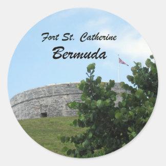 St Catherine Bermudas del fuerte Pegatinas Redondas