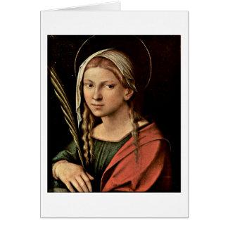 St.Catherine By Antonio Allegri Da Correggio Card