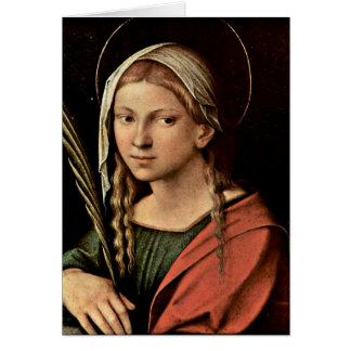 St.Catherine By Antonio Allegri Da Correggio Greeting Cards