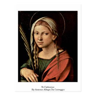 St.Catherine By Antonio Allegri Da Correggio Postcard