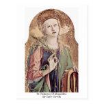 St.Catherine de Alexandría de Carlo Crivelli Tarjeta Postal