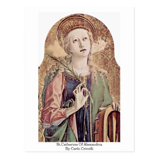 St.Catherine de Alexandría de Carlo Crivelli Postales