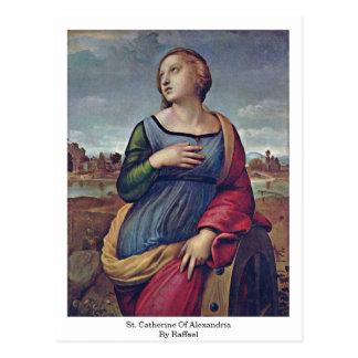St. Catherine de Alexandría de Raffael Postal
