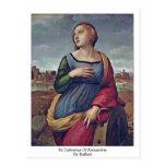 St. Catherine de Alexandría de Raffael Postales
