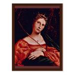 St. Catherine de Alexandría por la loteria Lorenzo Tarjetas Postales